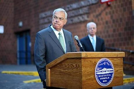 "Mayor Thomas M. Menino of Boston, who called the strike illegal, Tuesday said he was angry at the bus drivers, calling them ""selfish people who only want to cause disruption in our city."""